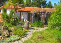 Kleines kanarisches Haus mit Garten, Liegewiese und Traumblick