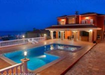 Villa mit Pool, Jacuzzi, Tennisplatz und Meerblick in Candelaria