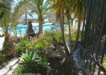Haus mit Meerblick, Gemeinschaftspool und Garten in Chayofa