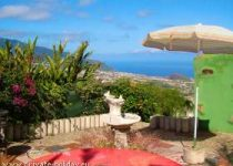 Ferienhaus mit Terrasse und Traumblick auf Finca im Orotavatal